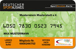 Muster Deutscher Sportausweis